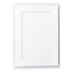 7 x 5 White Rectangle Aperture Cards And Envelopes (Pack Of 4)