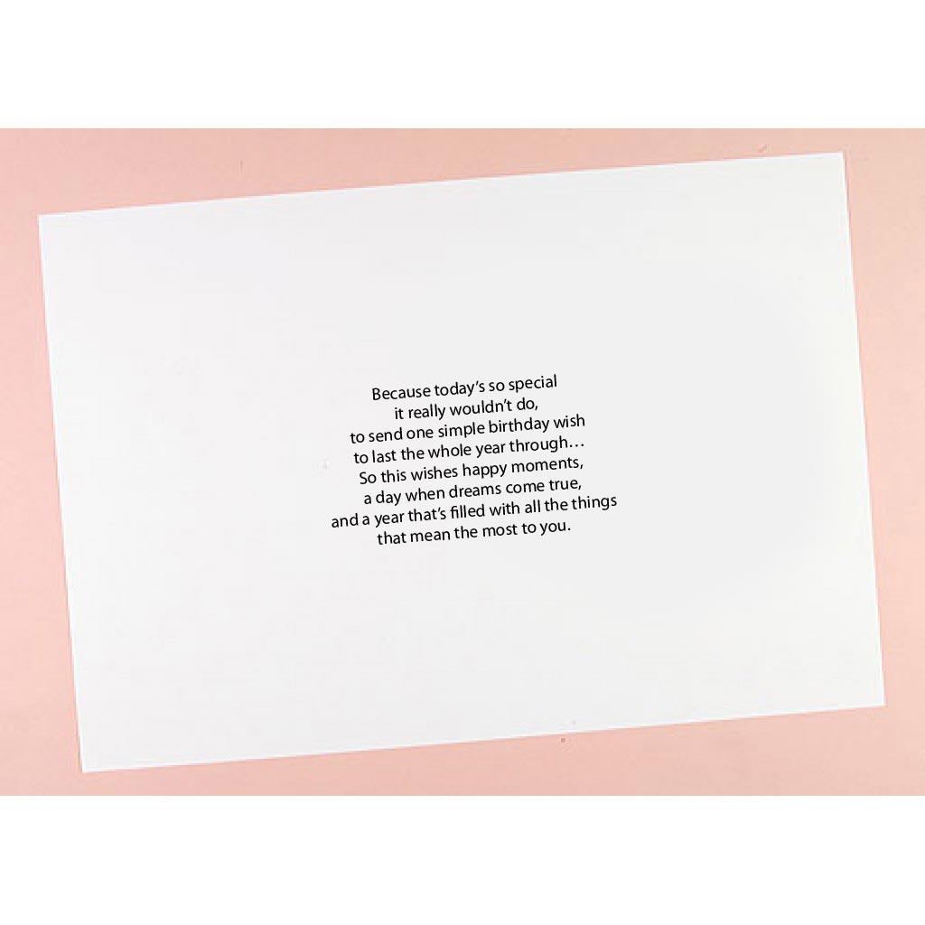 8x8 / 8x8 / 8x8 Birthday Verses Card Inserts - Pack of 8