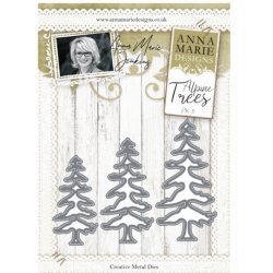 Anna Marie Designs- Alpine Trees Pack 3 Metal Dies