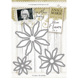 Anna Marie Designs- Bloom Flower Pack 3 Metal Dies
