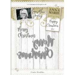 Anna Marie Designs-Modern Merry Christmas Metal Die No.1