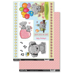 Bear Essentials Birthday Time Die-Cut Topper & Backing Sheet
