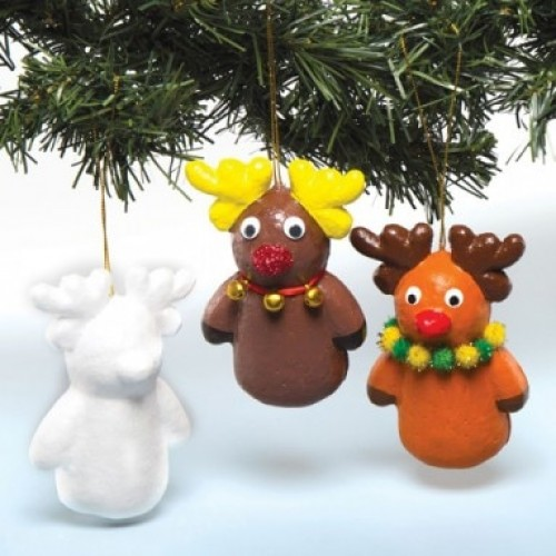 Polystyrene Reindeer with hanging cord