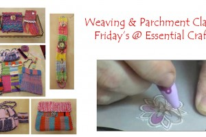 Weaving and Parchment Class