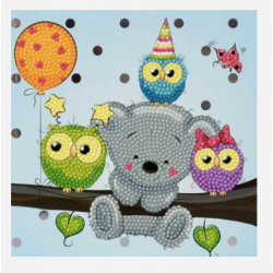 Crystal Card Kit - Birthday Friends