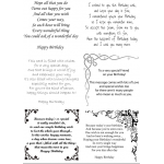 Easy Peel Self Adhesive Birthday Verses 1 by Essential Crafts