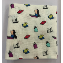 Roald Dahl Matilda on White Backround Fat Quarter 100% Cotton Fabric