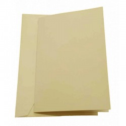 C5 Oyster Pearl Double Sided Pearlescent Cards and Envelopes Pack of 5