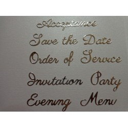 Britannia Dies - Wedding Etiquette Word Set