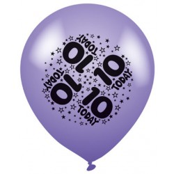 10 Today - Latex Balloons Pack of 8