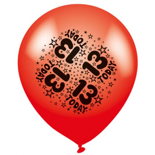 13 Today - Latex Balloons Pack of 8