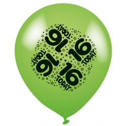 16 Today - Latex Balloons Pack of 8