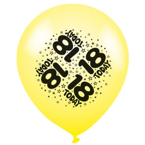 18 Today - Latex Balloons Pack of 8