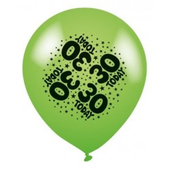 30 Today - Latex Balloons Pack of 8