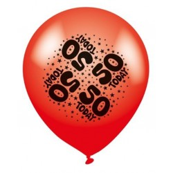 50 Today - Latex Balloons Pack of 8
