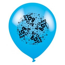 Birthday Boy Blue - Latex Balloons Pack of 8