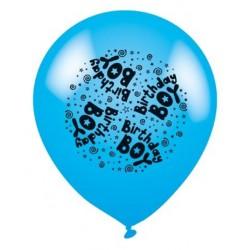 Birthday Boy Blue - Latex Balloons Pack of 8