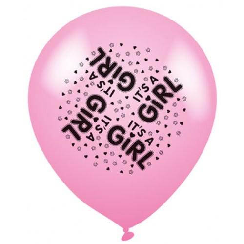 It's A Girl Pink - Latex Balloons Pack of 8