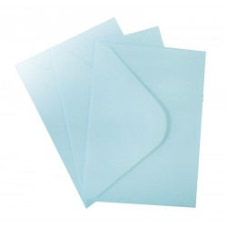 C6 Baby Blue Envelopes Pack of 25