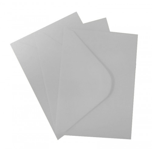 C6 Silver Envelopes Pack of 10