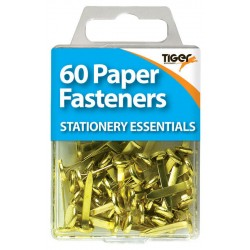 60 Gold Paper Fasteners / Brads