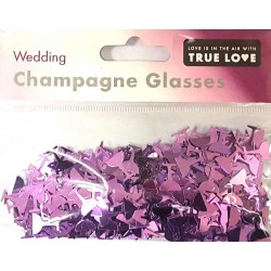 Wedding Champagne Glasses Confetti - Lilac
