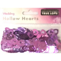 Wedding Hollow Hearts Confetti - Lilac