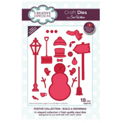 Creative Expressions Sue Wilson Festive Build A Snowman Craft Die