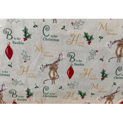 A Christmas Tail by Debbie Shore C is for Christmas - Per 1 Metre
