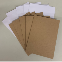 C5 Kraft Card and White Envelopes - Pack of 5 (300gsm & 100gsm)