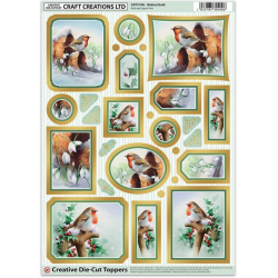 Die Cut Decoupage - RobinS/Gold