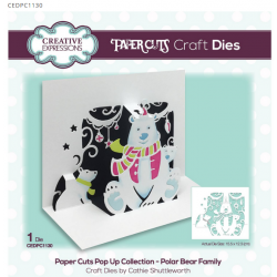 Creative Expressions Paper Cuts Pop Up Collection Polar Bear Family