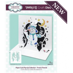 Creative Expressions Paper Cuts Pop Up Collection Frosty Friends