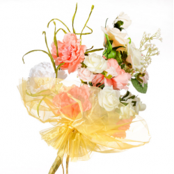 Organza Floral Wrap Gold - 300mm x 680mm