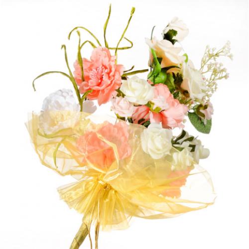 Organza Floral Wrap Gold - 300mm x 680mm