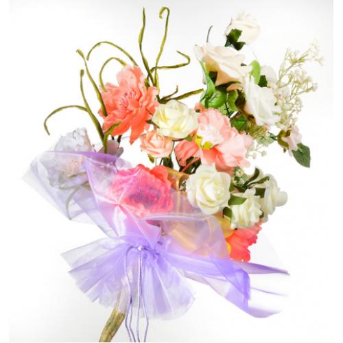 Organza Floral Wrap Lilac - 300mm x 680mm