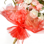 Organza Floral Wrap Red - 300mm x 680mm