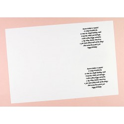 C6 Birthday Verses Card Inserts - Pack of 10 (portrait)