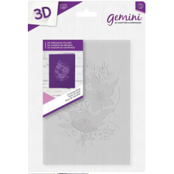 "Gemini 5"" x 7""  3D Embossing Folder - Christmas Rose"