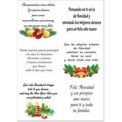 Easy Peel Self Adhesive Spanish Christmas Sentiments 4 by Essential Crafts