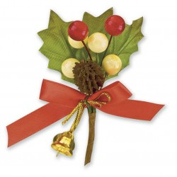 Christmas Spray with Gold Bells Embellishments