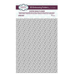 Embossing Folders by Sue Wilson - CE Embossing Folder 3D 5 3/4 x 7 1/2 Coffee Bean Flower