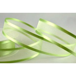 Mint Satin Sheer Ribbon - 15mm x 1m