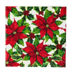 Crystal Card Kit - Poinsettias