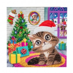 Crystal Card Kit - Cosy Kitten