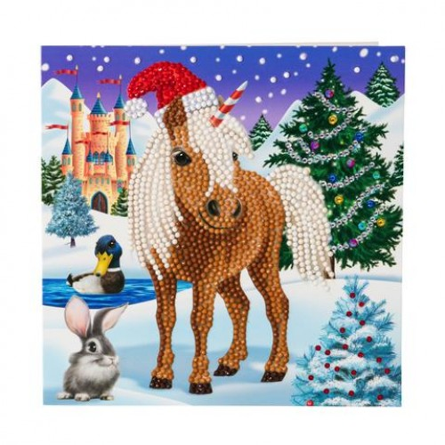 Crystal Card Kit - Winter Horse