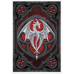 Anne Stokes Dragon Valour Alter Drake 26x18cm Crystal Art Notebook