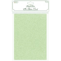 Always & Forever - Non Shedding A4 Glitter Card - Sage - Pack of 10