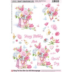 Die Cut Decoupage - Filled With Flowers