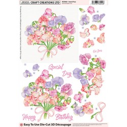 Die Cut Decoupage - Sweat Peas